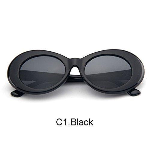 2e88bafd790 BuyWorld Clout Goggles White Oval Sunglasses Nirvana Kurt Cobain Glasses  Men Women Retro Vintage Shades Alien Eyewear UV400  Amazon.in  Home    Kitchen