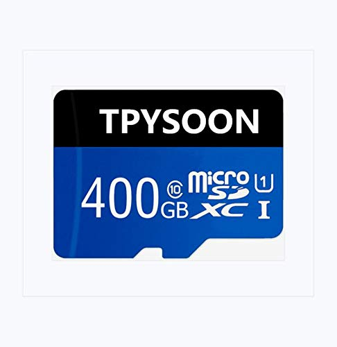TPYSOON Micro SD Card 400GB High Speed Class 10 Micro SD SDXC Card with Adapter