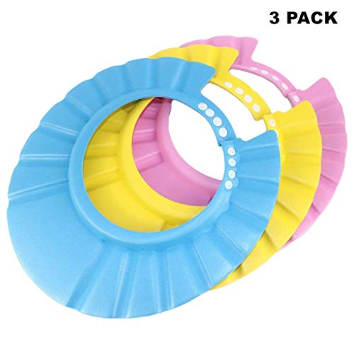 (Baby Shampoo Shower Protection Cap Waterproof Bathing Hat-3 Pack )
