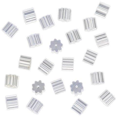 Flyshop 50 Pcs Clear White Soft Plastic Ridge Shape Earrings Back Stoppers