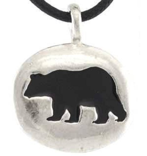 Bear Animal Spirit Totem Pendant Necklace - Durable Pewter - Bonus Cord Necklace