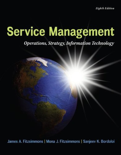 MP Service Management with Service Model Software Access Card (The Mcgraw-Hill/Irwin Series in Operations and Decision Sciences) by Fitzsimmons, James Published by McGraw-Hill/Irwin 8th (eighth) edition (2013) Hardcover (Mp Service Management compare prices)