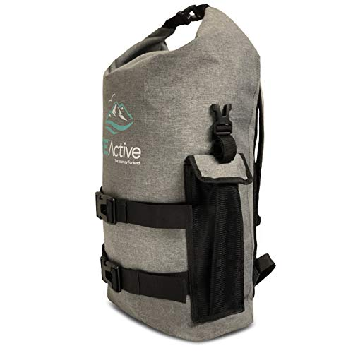 FE Active – 25 Liter Dry Bag Waterproof Backpack Dry Sack Laptop Sleeve Water Sports, School, Outdoors, Camping, Backpacking, Hiking, Kayaking, Boating, Rafting, Trekking | Designed in California, USA
