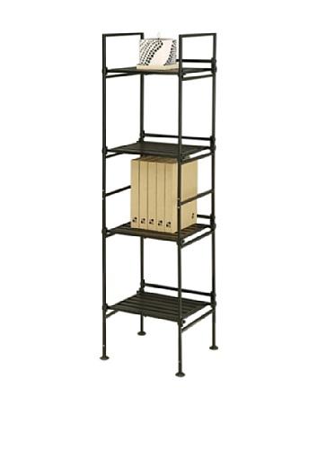 Neu Home Espresso 4 Tier Square Free Standing Storage Shelf - No Tool Assembly by Neu Home