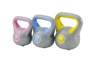 York Fitness - Juego de 3 pesas rusas (2, 3 y 4 kg)