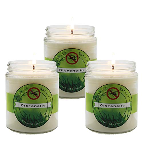 SOYYLA Citronella Candles,Outdoor Candles, Set of 3
