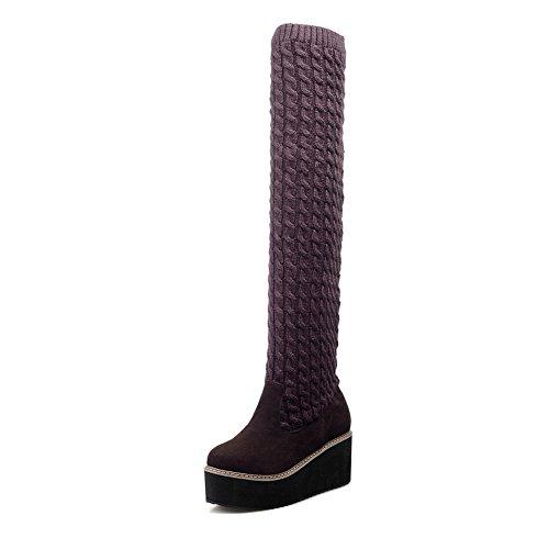 AdeeSu Womens Platform Slip-Resistant Casual Suede Boots SXC02157 Brown gKW9r5xZmz