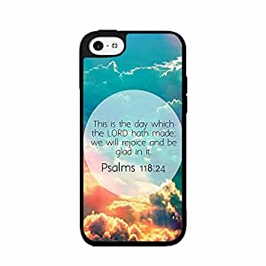 Psalms 118:24 Bible Verse TPU RUBBER SILICONE Phone Case Back Cover iPhone 5 5s