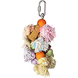 Penn Plax BA930 Shaggy Kabob Bird Toy, Small