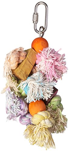 Penn Plax Shaggy Kabob Bird Toy, Small
