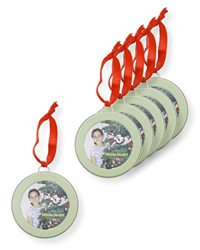 Juvale 6 Pack Christmas Holiday Ornament - Tree Picture Frame Ornaments Green Decorations