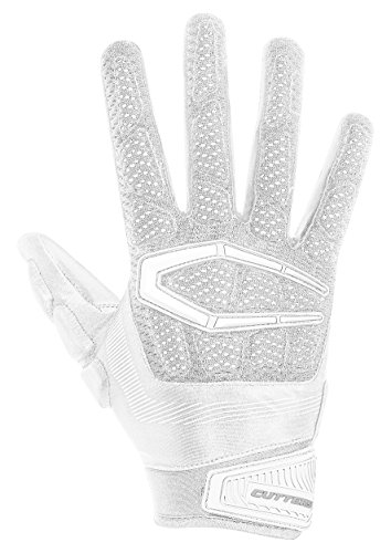 (Cutters S652 Gamer 3.0 Padded Receiver Glove-Adult: Medium-WHITE)