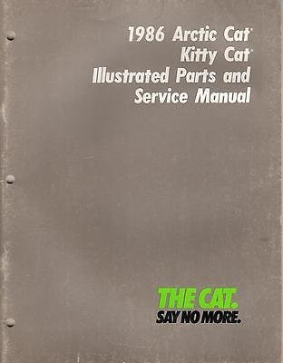 1986 ARCTIC CAT KITTY CAT PARTS & SERVICE MANUAL p/n 2254-325 (241)
