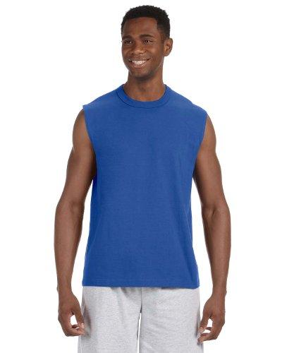 Jerzees 5 Oz. HiDENSI-T Sleeveless T-Shirt, Small, Royal