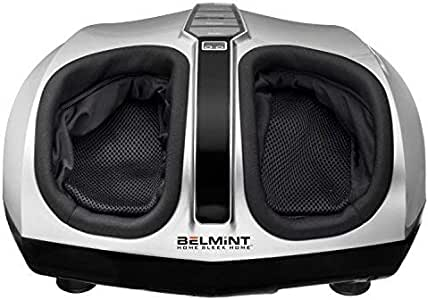 Belmint Shiatsu Foot Massager Machine with Heat Function, Multi Settings Deep-Kneading Shiatsu Therapy Feet Massager – (Silver)