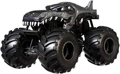 Hot Wheels Monster Trucks Mega-wrex die-cast 1:24 Scale Vehicle with Giant Wheels for Kids Age 3 to 8 Years Old Great Gift Toy Trucks Large Scales