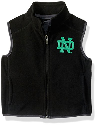 NCAA Notre Dame Fighting Irish Kids & Youth Boys Scrimmage Polar Fleece Vest, Black, Kids Small(4) by NCAA by Outerstuff