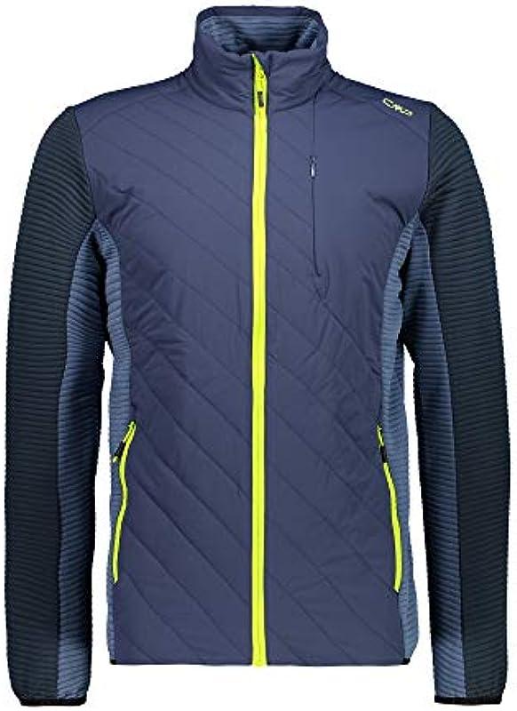 CMP męska kurtka wyściełana z kolorowym zamkiem błyskawicznym 30m6337: Sport & Freizeit