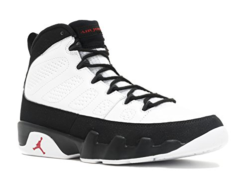 Nike Heren Air Jordan 9 Retro Playoff Wit / True Rood-zwart Leer Maat 11.5