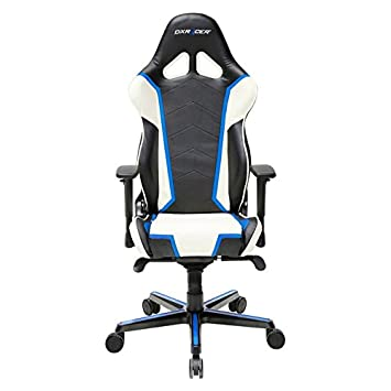 DXRacer OH RH110 NWB Racing Series Black and Blue Gaming Chair – Includes 2 Free Cushions