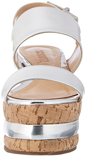 Schutz Women's S2-02320008s Ankle Strap Sandals Silver (Prata Prata) fdSz7A