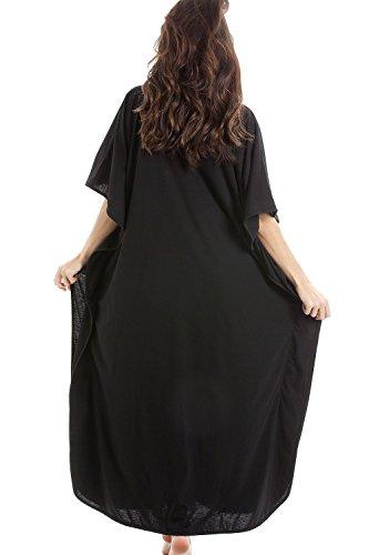 Camille - ropa de dormir Camisón para Mujer de color Negro de talla NEGRO