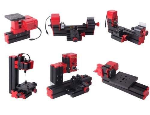 Ridgeyard Maquina 6 En 1 Fresadora De Perforacion Para Madera Torno De Metal Para Fabricacion De Modelos Proyectos De Arte Bricolaje