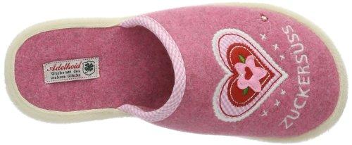 AdelheidZuckersüss Filzpantoffel - zuecos Mujer Rosa - Pink (himbeere / 603)