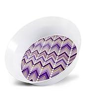ThermoServ Melamine 12 oz. Bowl, Chevron Collection, Lavender (4-Pack)