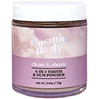 Cosmic Body, All Natural 4-In-1 Tooth & Gum Powder - Clean & Sheen, Polishes Teeth, Brightens smile, Freshens Breath, 2.6 oz