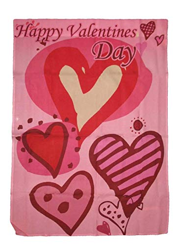 ALBATROS 28 in x 40 in Happy Valentines Day Cartoon Hearts Nylon 2Ply Sleeved Garden Flag 28 in x 40 in for Home and Parades, Official Party, All Weather Indoors Outdoors