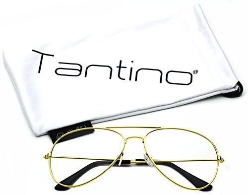 5abe1026c87d Tantino® Retro Aviator Clear Lens Glasses Super Vintage - Import It All