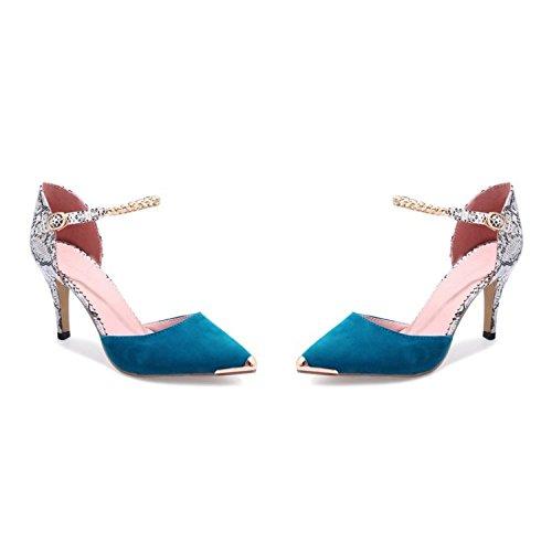 Mujer Cómodos para De Zapatos Blue Moda 1Ow8FYqOT