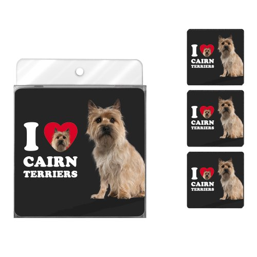 - Tree-Free Greetings NC39026 I Heart Cairn Terriers 4-Pack Artful Coaster Set