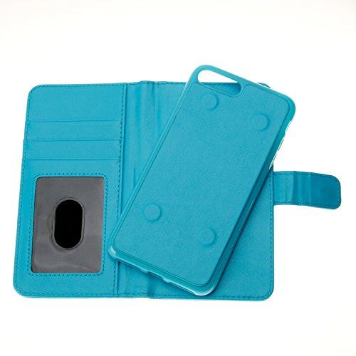 Voguecase® Pour Apple iPhone 7 Plus 5,5 Coque,[Zipper Wallet]Etui pratique et original en cuir synthétique, avec fermeture à aimant, housse de protection interne silicon antichoc de qualité, rabat por