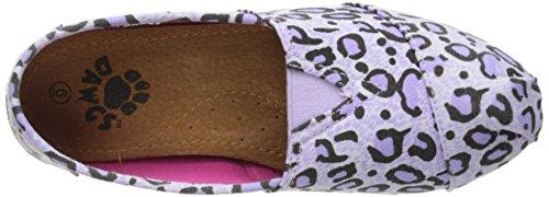 Slip Women's Leopard Print in Exotic Purple On Kaymann Loafer DAWGS Ftgx6g