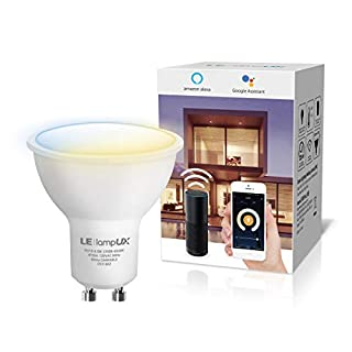 GU10 Smart LED Light Bulbs, Works with Alexa & Google Assistant, Tunable White Track Light Bulb, Dimmable with App Control, 50W Halogen Equivalent, No Hub Required, 2.4G WiFi Only