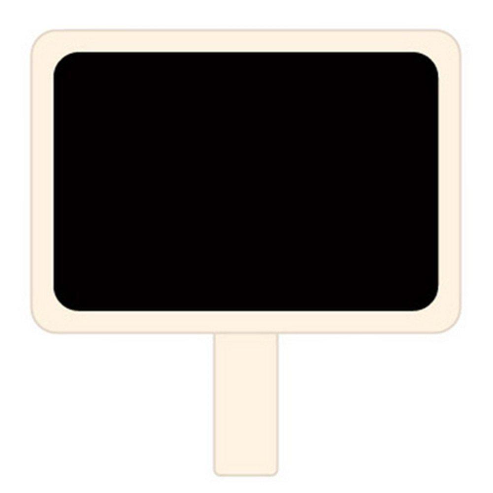 memo Stile Lavagna Nera Messaggio Rettangolare in Ardesia a Pinza Clip cancellabili Oyfel Mini Clip su messaggi Set di 12 Mini lavagnetta Nera in Legno Mollette per Biancheria in Legno