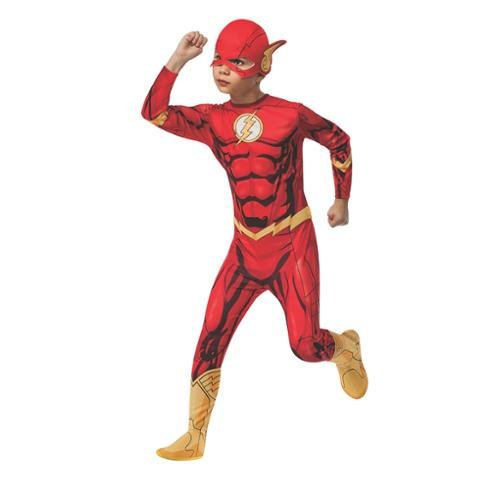 Rubies DC Universe Flash Costume, Child Medium (Flash Muscle Costume)