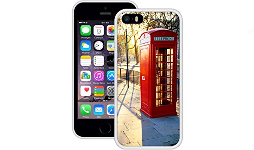 London Phone Booth | Handgefertigt | iPhone 5 5s SE | Weiß TPU Hülle