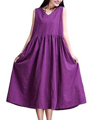 MatchLife - Vestido - vestido - para mujer Style2-Violet
