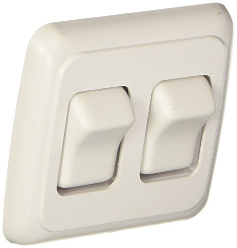 RV Designer Collection S533 Contoured Wall Switch Double On White