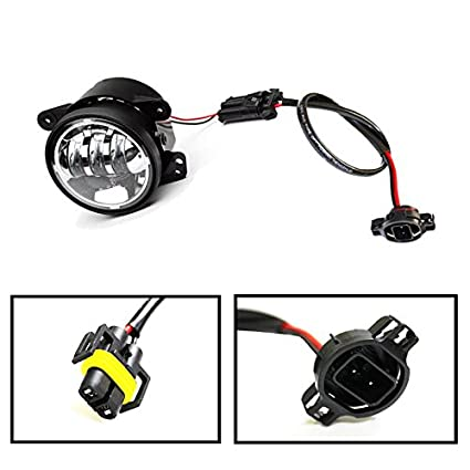 amazon com ijdmtoy 2 led fog lamps conversion adapter wires for rh amazon com JW Speaker Jeep Black Fog Light Jeep