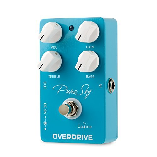Caline Overdrive Electric Guitar Effects Pedal True Bypass Pure Sky
