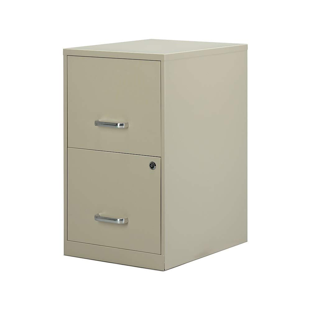 Staples 2806662 2-Drawer Vertical File Cabinet Locking Letter Putty/Beige 18-Inch D by Staples