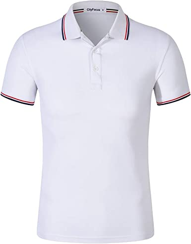 Camisa Polo de Manga Corta para Hombre Cuello en Contraste de algodón Camisa Polo con Botones Camisetas Masculinas: Amazon.es: Ropa y accesorios