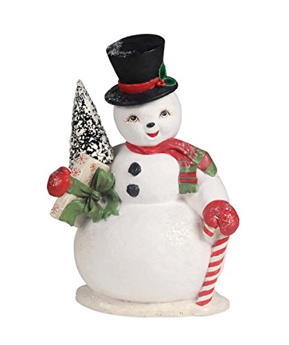 Christmas SNOWMAN SAM Paper Top Hat Candy Cane Present Td6088