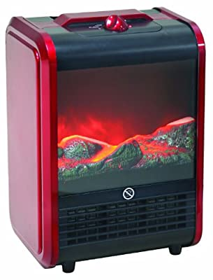 Mini Fireplace Space Heater with 3D Flame by Comfort Zone