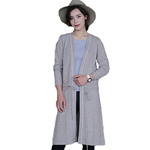 Cashmere Extra Long Cardigan - Tailor Beauty Soft Lady Extra Long Laced Cashmere Cardigan Winter Coat TB-WT-000039