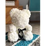 Rose-Flower-Bear-Fully-Assembled-16-inch-Hugz-Teddy-Bear-Over-20-Dozen-Artificial-Flowers-Best-Gift-for-Mothers-Day-Valentines-Day-Anniversary-Bridal-Showers-White-wClear-Gift-Box